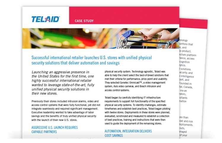 Telaid Unified Physical Security Solutions Case Study