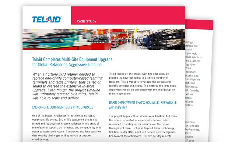 Telaid Retailer Equipment Upgrade Case Study