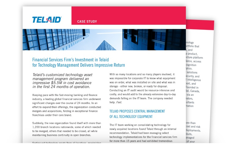 Telaid Financial Services Technology Asset Management Case Study