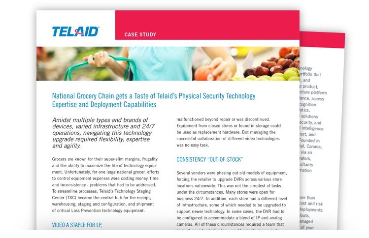 Telaid Grocery Chain Physical Security Solutions Case Study