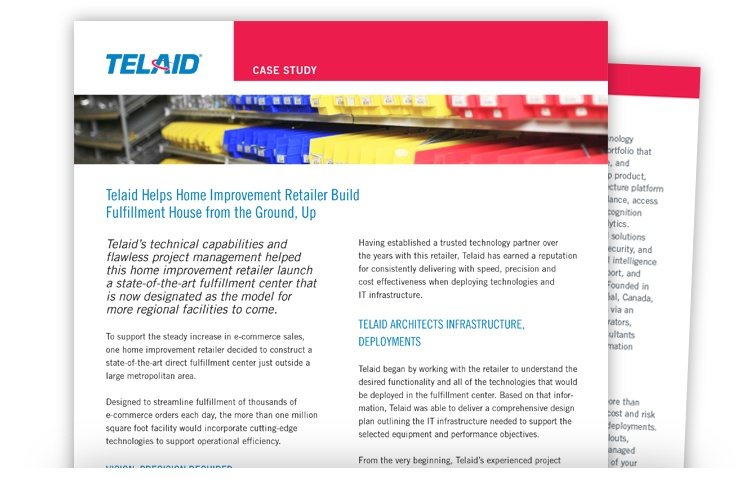 Telaid Home Improvement Retailer Connected Warehouse Case Study