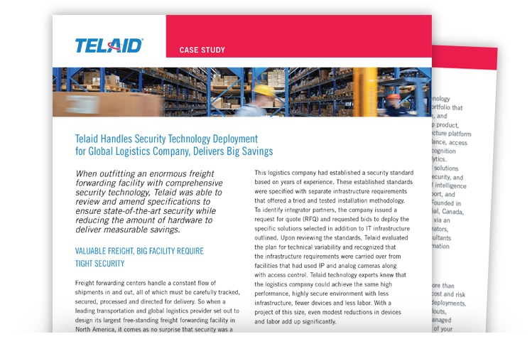 Telaid Global Logistics Physical Security Solutions Case Study