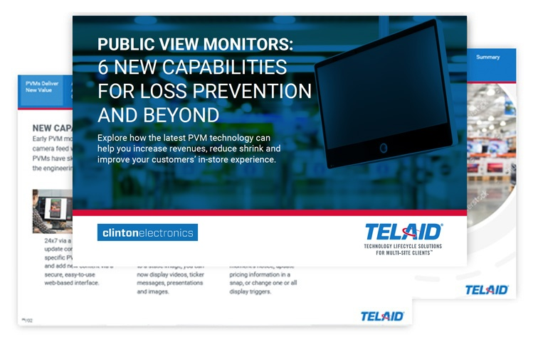 Telaid Public View Monitors: New Capabilities for Loss Prevention and Beyond