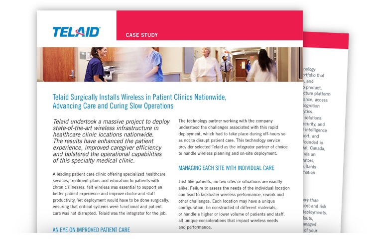 Telaid Patent Clinics Wireless Infrastructure Case Study